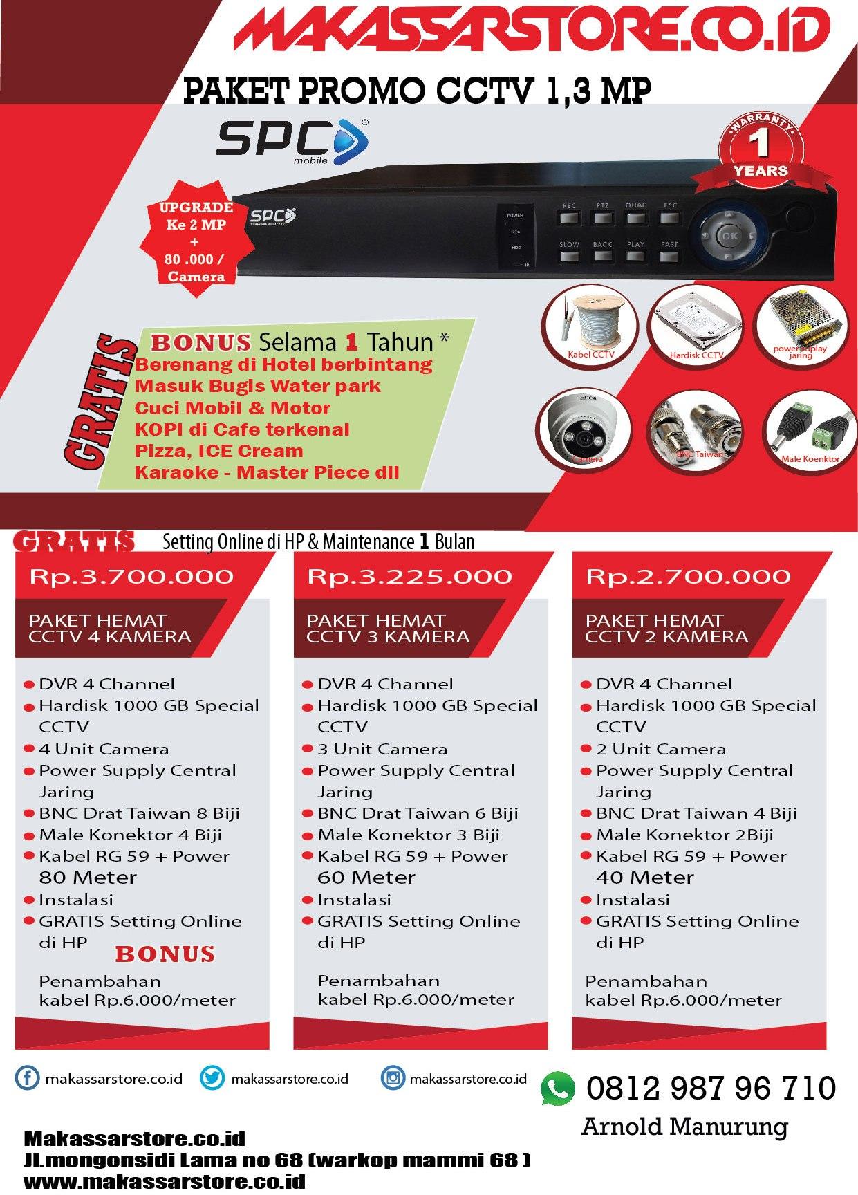 Print Makassar Cctvfingerprintakses Kontrol Paket Cream Bugis Promo Cctv 4 Kamera